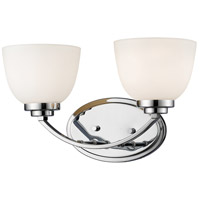 Z-Lite 443-2V-CH Ashton 2 Light 15 inch Chrome Vanity Wall Light