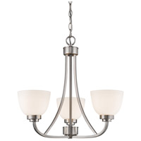Ashton 3 Light 21 inch Brushed Nickel Chandelier Ceiling Light