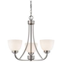 Z-Lite 443-3-BN Ashton 3 Light 21 inch Brushed Nickel Chandelier Ceiling Light