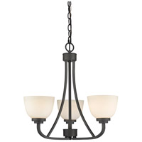 Z-Lite 443-3-BRZ Ashton 3 Light 21 inch Bronze Chandelier Ceiling Light in 8.8