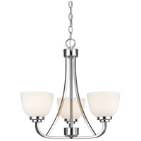 Z-Lite 443-3-CH Ashton 3 Light 21 inch Chrome Chandelier Ceiling Light in 8.8