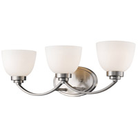 Z-Lite 443-3V-BN Ashton 3 Light 23 inch Brushed Nickel Vanity Wall Light