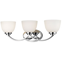 Ashton 3 Light 23 inch Chrome Vanity Light Wall Light
