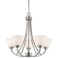 Ashton 5 Light 25 inch Brushed Nickel Chandelier Ceiling Light