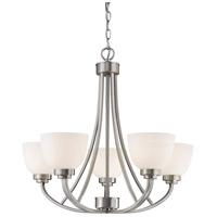 Z-Lite 443-5-BN Ashton 5 Light 25 inch Brushed Nickel Chandelier Ceiling Light