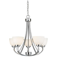 Z-Lite 443-5-CH Ashton 5 Light 25 inch Chrome Chandelier Ceiling Light