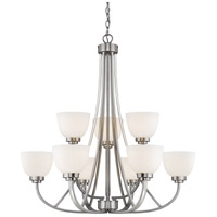 Ashton 9 Light 31 inch Brushed Nickel Chandelier Ceiling Light