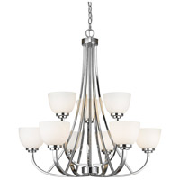Z-Lite 443-9-CH Ashton 9 Light 31 inch Chrome Chandelier Ceiling Light in 25.3