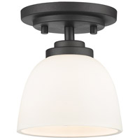 Z-Lite Ashton 1 Light Flush Mount in Bronze 443F1-BRZ