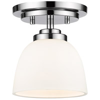Z-Lite 443F1-CH Ashton 1 Light 6 inch Chrome Flush Mount Ceiling Light in 1.32