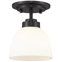 Z-Lite 443F1-MB Ashton 1 Light 6 inch Matte Black Flush Mount Ceiling Light