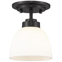 Z-Lite 443F1-MB Ashton 1 Light 6 inch Matte Black Flush Mount Ceiling Light