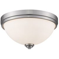 Ashton 2 Light 13 inch Brushed Nickel Flush Mount Ceiling Light