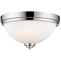 Z-Lite 443F2-CH Ashton 2 Light 13 inch Chrome Flush Mount Ceiling Light in 3.9