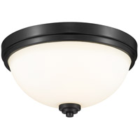 Z-Lite 443F2-MB Ashton 2 Light 13 inch Matte Black Flush Mount Ceiling Light