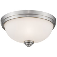 Z-Lite 443F3-BN Ashton 3 Light 15 inch Brushed Nickel Flush Mount Ceiling Light in 5.5