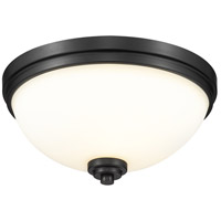Z-Lite 443F3-MB Ashton 3 Light 15 inch Matte Black Flush Mount Ceiling Light