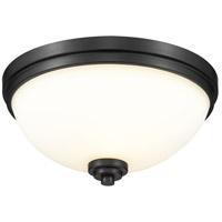 Z-Lite 443F3-MB Ashton 3 Light 15 inch Matte Black Flush Mount Ceiling Light