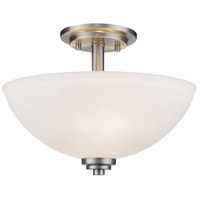 Ashton 3 Light 16 inch Brushed Nickel Semi Flush Mount Ceiling Light