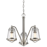 Mariner 3 Light 20 inch Brushed Nickel Chandelier Ceiling Light