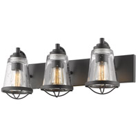 Z-Lite 444-3V-BRZ Mariner 3 Light 24 inch Bronze Vanity Wall Light photo thumbnail