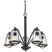 Z-Lite 444-5-BRZ Mariner 5 Light 25 inch Bronze Chandelier Ceiling Light
