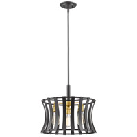 Z-Lite 446-16BZGD Geist 3 Light 17 inch Bronze Gold Pendant Ceiling Light