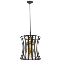 Z-Lite 446-18BZGD Geist 6 Light 16 inch Bronze Gold Pendant Ceiling Light