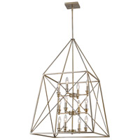 Z-Lite 447-12AS Trestle 12 Light 24 inch Antique Silver Pendant Ceiling Light in 24.00