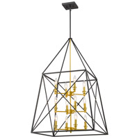 Z-Lite 447-12BZGD Tressle 12 Light 24 inch Bronze Gold Pendant Ceiling Light in 24.00