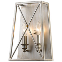 Tressle 2 Light 8 inch Antique Silver Wall Sconce Wall Light