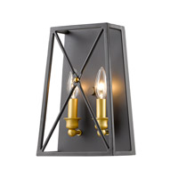 Tressle 2 Light 8 inch Bronze Gold Wall Sconce Wall Light