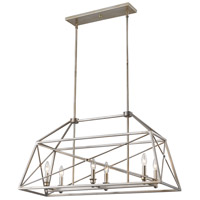 Z-Lite 447-36AS Trestle 6 Light 12 inch Antique Silver Pendant Ceiling Light in 12.00