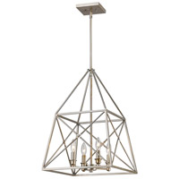 Z-Lite 447-4AS Tressle 4 Light 16 inch Antique Silver Pendant Ceiling Light in 16.00