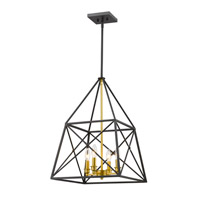 Tressle 4 Light 16 inch Bronze Gold Pendant Ceiling Light