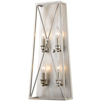Z-Lite 447-4S-AS Trestle 4 Light 10 inch Antique Silver Wall Sconce Wall Light