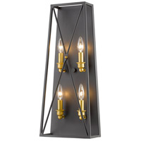 Tressle 4 Light 10 inch Bronze Gold Wall Sconce Wall Light