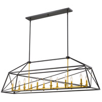Z-Lite 447-56BZGD Tressle 12 Light 12 inch Bronze Gold Pendant Ceiling Light in 12.00