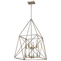 Z-Lite 447-8AS Trestle 8 Light 20 inch Antique Silver Pendant Ceiling Light in 20.00