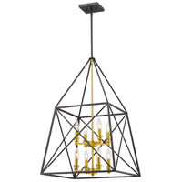 Z-Lite 447-8BZGD Trestle 8 Light 20 inch Bronze Gold Pendant Ceiling Light in 20.00