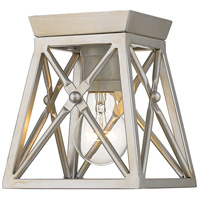 Trestle 1 Light 6 inch Antique Silver Flush Mount Ceiling Light