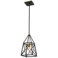 Z-Lite 447MP-MB-OBR Trestle 1 Light 8 inch Matte Black and Olde Brass Mini Pendant Ceiling Light