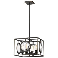 Z-Lite 448-16OB Port 4 Light 18 inch Olde Bronze Pendant Ceiling Light in 18.00