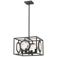 Z-Lite 448-16OB Port 4 Light 18 inch Olde Bronze Pendant Ceiling Light in 18.00