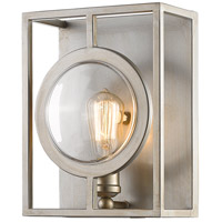 Port 1 Light 9 inch Antique Silver Wall Sconce Wall Light