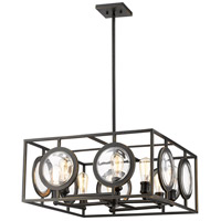 Z-Lite 448-24OB Port 8 Light 26 inch Olde Bronze Pendant Ceiling Light