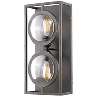 Z-Lite 448-2S-OB Port 2 Light 9 inch Olde Bronze Wall Sconce Wall Light