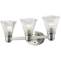 Z-Lite 449-3V-BN Intrepid 3 Light 23 inch Brushed Nickel Vanity Wall Light