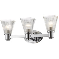 Intrepid 3 Light 23 inch Chrome Vanity Light Wall Light