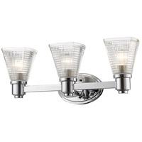 Z-Lite 449-3V-CH Intrepid 3 Light 23 inch Chrome Vanity Wall Light